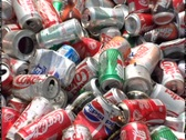 RECYCLED ALUMINUM CANS Stock Footage