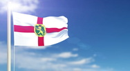 Stock Video Footage of Flag of Alderney