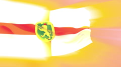 Flag of Alderney - stock footage