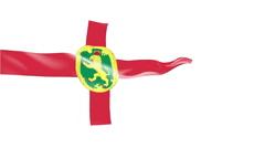 Flag of Alderney Stock Footage