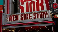 Stock Video Footage of West Side Story at Times Square, New York