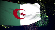 Stock Video Footage of Flag of Algeria
