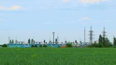 Stock Video Footage of Hazardous industry on the nature