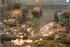 Stock Video Footage of WASTE TRANSFER STATION