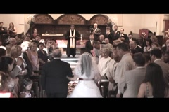 FATHER AND BRIDE WALK DOWN AISLE Stock Footage