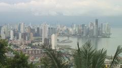 Panama: Capital city from Ancon Hill Stock Footage