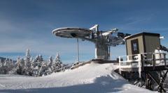 Skilift wheel side - stock footage