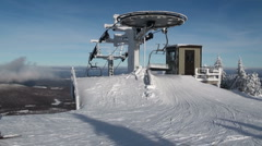 Skilift wheel direct angle - stock footage