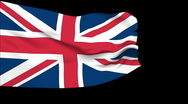 Stock Video Footage of Flag of UK