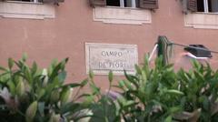 Italy, Lazio, Rome, Campo dei Fiori Square Stock Footage
