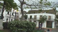 Panama: architecture of Casco Viejo Stock Footage