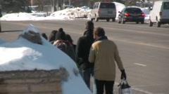 Tourist Walking To Sundance Film Festival Stock Footage