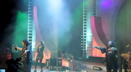 Concert group Boney M in Moscow, Russia, 17 december 2010 Stock Footage