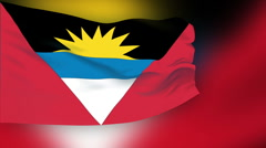 Stock Video Footage of Flag of Antigua and Barbuda