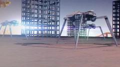 T310 robot science walker scifi scary machine invade invasion weird strange 1 Stock Footage