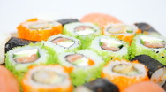 Stock Video Footage of Turning Sushi