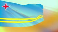 Flag of Aruba Stock Footage