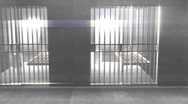 Stock Video Footage of t310 prison cells strange beautiful weird light