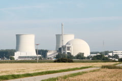 Nuclear power station Biblis Stock Footage