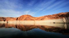 Mirror Reflections of Lake Powell, Arizona Stock Footage