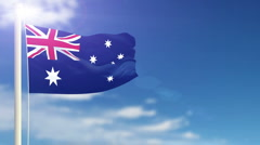 Flag of Australia Stock Footage