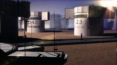 T310 industrial future futuristic scifi science fiction Stock Footage