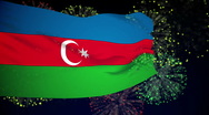 Stock Video Footage of Flag of Azerbaijan