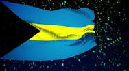 Flag of Bahamas Stock Footage