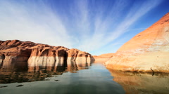 Clear Water Reflections in Lake Powell, Arizona - stock footage