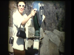 Glam 50's woman at Viewpoint - stock footage