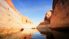 Scenic Beauty of Lake Powell, Arizona Stock Footage