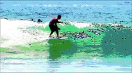 Stock Video Footage of Surf-cartoon effect
