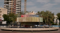 Dizengoff square timelapse HD zoom Stock Footage
