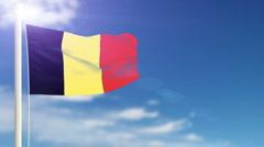 Flag of Belgium Stock Footage