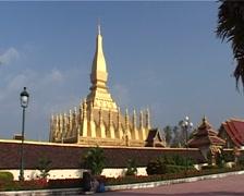 Pha That Luang, Great stupa Stock Footage