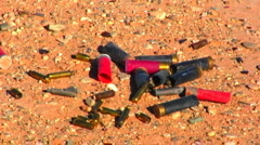 Empty Bullet and Shotgun Shell Casings 2 - stock footage