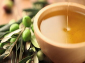 Olive oil bolw Stock Footage