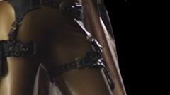 Guns - Rotating - Tilt Up Stock Footage