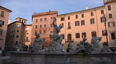 Italy, Lazio, Rome, Piazza Navona Stock Footage
