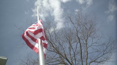 Raising the American Flag - stock footage