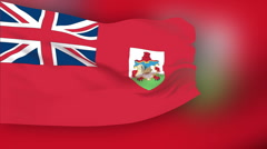 Flag of Bermuda - stock footage