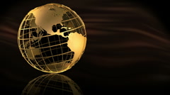 GoldCageGlobeSpin Stock Footage