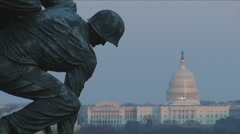 Iwo Jima Memorial in Arlington, VA - stock footage