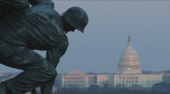 Stock Video Footage of Iwo Jima Memorial in Arlington, VA