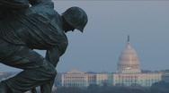 Iwo Jima Memorial in Arlington, VA Stock Footage