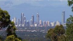 City skyline Stock Footage