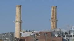 US Congress' coal power plant Stock Footage