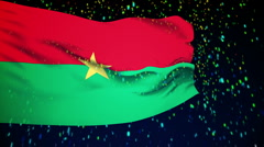 Stock Video Footage of Flag of Burkina Faso