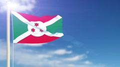 Flag of Burundi Stock Footage