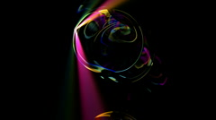 Soap bubble blister waterdrop underwater rays laser sunlight crystal round. Stock Footage